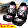 2Pcs Car Seat Cover Skull Pattern Cushion Universal Truck Van Protector Covers