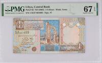Libya 1/4 Dinars ND 2002 P 62 Superb Gem UNC PMG 67 EPQ