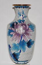 "Fine Large Chinese Cloisonne Enamel Gold Gilt Chrysanthemum & Bird Vase. 10""."