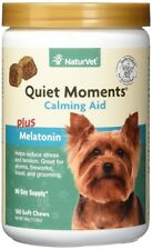NaturVet Quiet Moments Plus Melatonin Calming Aid for Dogs 180 Count Soft Chew