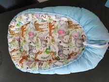 Baby Pod Nest Reversible Bed Sleep Cushion Safari Animals