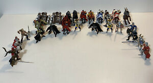 Large Lot Vintage Papo Figures Knights Horses Ogre 2 Catapults Medieval Fantasy