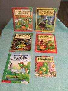 Franklin The Turtle Children's Books Set Of 6 Franklin & The Tooth Fairy +