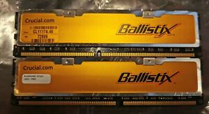 Crucial Ballistix DDR400 BL6464Z402 1GB RAM KIT RETRO GAMING RAM