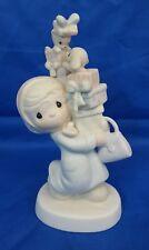Precious Moments BUNDLES OF JOY Woman Shopper Christmas Gifts Porcelain Figurine