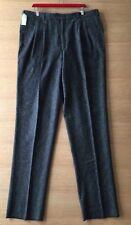 Eddie Bauer Mens Pleated Wool Pants Unhemmed Gray 40 Waist Nos 4