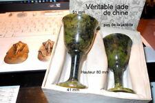2 verres a liqueur en jade
