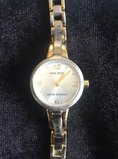 Vintage Nine West Women's Wristwatch Two Tone Round Face