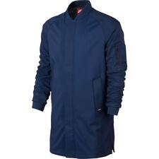 5360093f96838 Mens Nike FC Ma1 Long Stadium Parka Jacket Coastal Blue L Large 822238 423
