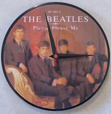"THE BEATLES*PLEASE PLEASE ME 7"" 45 PICTURE DISC CLOCK--GREAT GIFT--FREE SHIPPING"