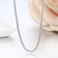 Solid .925 Sterling Silver 1.6mm Italian Popcorn Chain Necklace - All Sizes