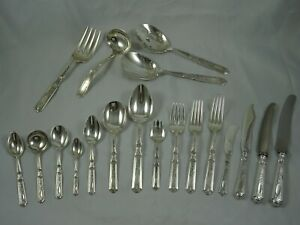 SUPERB , GORHAM sterling silver `St DUNSTAN ` CANTEEN OF CUTLERY, c1915, 7267gm