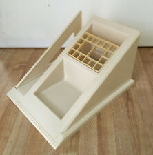 Vintage Rubbermaid Desk Organizer Letter File Pen Pad Holder Almond #0174