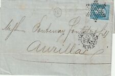 1864 France wrapper with letter sent from Paris to Aurillac