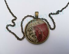 ring Postage Stamp Jewellery Uk Fast Postal Glass Pendant Necklace or Key