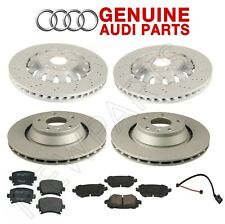 NEW For Audi TT Quattro RS Front and Rear Disc Brake Rotors and Pads Genuine Kit