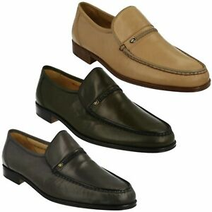 MENS GRENSON SHOES AMOS LEATHER MOCCASIN STYLE PARTY WEDDING WORK SHOES SIZE