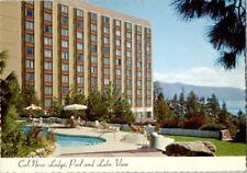 1960's Cal Neva Lodge Hotel Casino Lake Tahoe Pool Postcard Vintage Sinatra Era