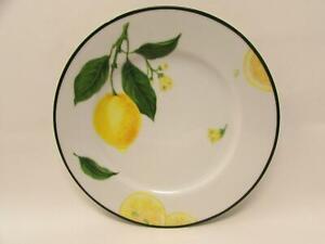 Citrus Grove by Williams-Sonoma Salad Plate Lemons Green Band b7