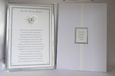 Wedding Poem to Daughter/Son On her/his Wedding Day Boxed Personalised