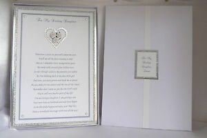 Wedding Poem Card To Daughter/Son On her/his Wedding Day Boxed Personalised