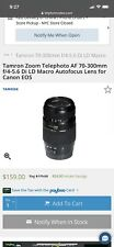 Tamron SP A005 70-300mm f/4.0-5.6 Di VC USD Lens For Canon