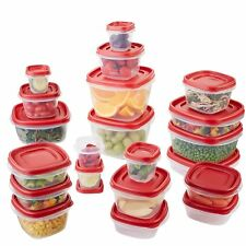 Rubbermaid Easy Find Lids Food Storage Container 42 Pc Premier Plastic Set Red