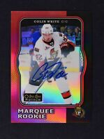 2018-19 UD O-Pee-Chee OPC Platinum 2017-18 Red Retro Auto #R-73 Colin White