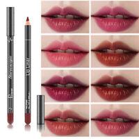 Matte Lipstick Pencil Lip Liner Waterproof Long Lasting Cosmetic Makeup Beauty