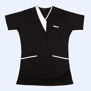 Medical scrub Slim fit top student Unisex V-Neck Piping Nurse Medical Scrub UK