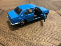 Mattel Mebetoys A76 Alfa Romeo Alfetta Blue 1/43 Made in Italy Scale Model