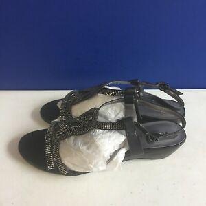 London Fog Women's Macey Demi-Wedge Dress Sandals Size 7M