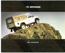Land Rover Defender 1990-91 UK Market Foldout Sales Brochure 90 110 130