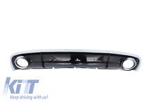 Rear Bumper Valance Diffuser Audi A4 B8 Sedan 12+ Facelift+Exhaust RS4 Design