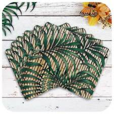 Tropical Palm Leaf Placemats (6), Tiki Style Bamboo Placemats, Mid Century Decor