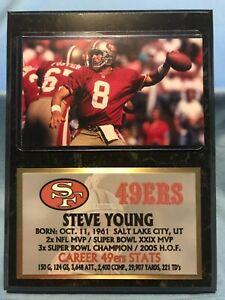 STEVE YOUNG  SAN FRANCISCO 49ers  SUBLIMATION PHOTO PLAQUE