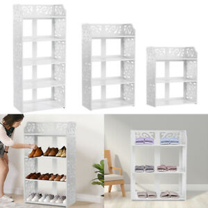 3/5 Tier Shoe Rack Storage Shelf Display Stand Organiser Unit Cabinet Entryway