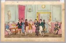 DRURY LANE THEATER - London - Aquatinta 1820 Cruikshank