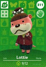 Amiibo Cards 311 LOTTIE Animal Crossing Series 4 NEW AUTHENTIC Edgewear