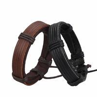 Women Men Leather Handmade Braided Bangle Cuff Wristband Charm Infinity Bracelet