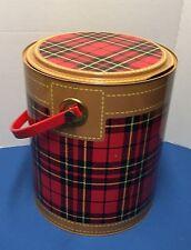 Vintage Hamilton Skotch Kooler 2 Gallon Plaid Scotch Cooler Metal Ice Box