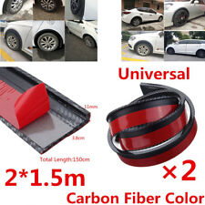 2X3.8cm/1.5M Car Fender Flare Wheel Eyebrow Trim Protector Lip Carbon Fiber Look