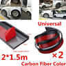 2X3.8cm/1.5M Car Fender Flare Wheel Eyebrow Trim Protector Lip Carbon Fiber Look