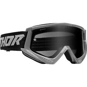 Thor Combat Sand Racer Goggles Gray/Black for ATV UTV Offroad Motocross Riding
