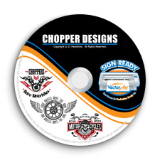 CHOPPER MOTORCYCLE CLIPART-VECTOR CLIP ART IMAGES +T-SHIRT GRAPHICS+TEMPLATES CD