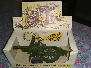 Crescent Toy 25-Pounder Field Gun 1939-45 1250 In Towing Position Boxed