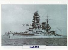 1919 NAGATO Battleship Capital Ship / History Japan Warship Photograph Maxi Card