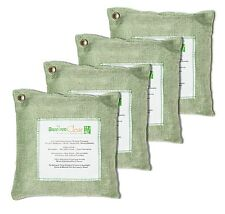 Bamboo Charcoal Air Purifying Bags for Remove Toxic Bacteria,Odors, Green-4x500g