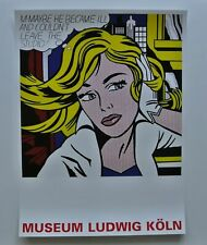 M-MAYBE : ROY LICHTENSTEIN : LARGE FORMAT LITHOGRAPH : MUSEUM LUDWIG KOLN