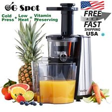 Slow Juicer Machine Masticating Cold Press Fruit Vegetable Vitamin Extractor NEW